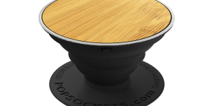 PopSockets - Popgrip met lasergegraveerde houten deksel