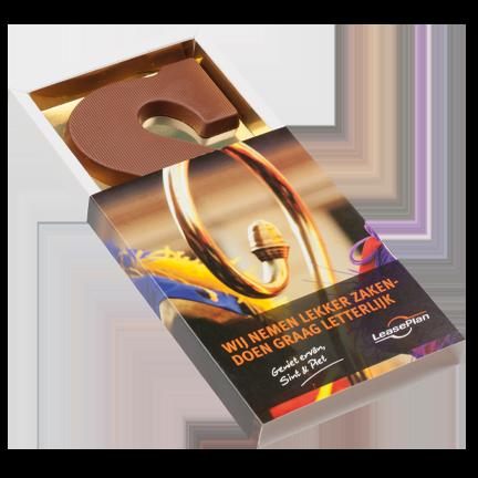 Chocoladeletter personaliseren - relatiegeschenken Amersfoort